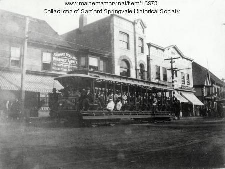 Open Trolley, Sanford, ca. 1900