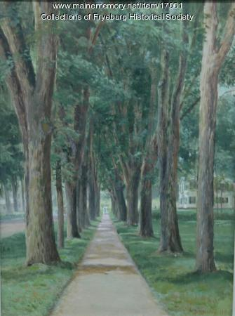 Newman elms painting, 1904