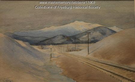 Mount Washington painting, ca. 1910