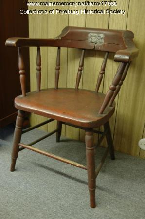 Chair that President Lincoln sat in to pose for artist, 1860