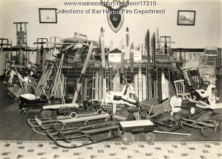 Bar Harbor Fire Department toy collection, 1942