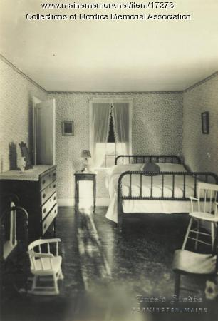 Bedroom where Lillian Nordica, famous opera singer, was born