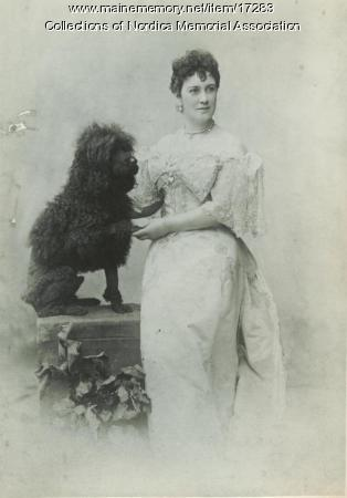 Opera singer Lillian Nordica and her poodle, Turk