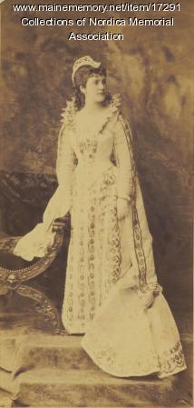 Lillian Nordica as Margaret of Navarre, ca. 1880