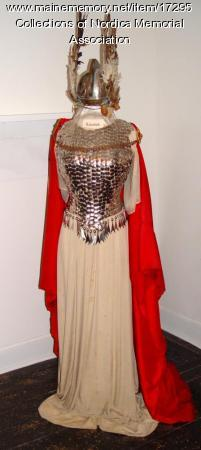 Brunnhilde costume worn by Lillian Nordica in 1898