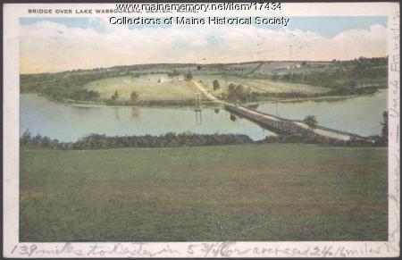 Bridge over Lake Wassokeag, Dexter, ca. 1925