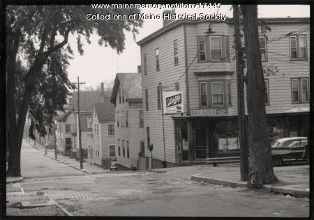 Oxford and Franklin streets, Portland, ca. 1950s