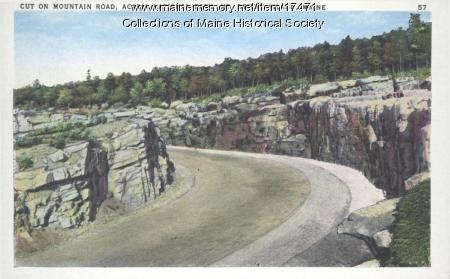 Mountain road, Acadia National Park, ca. 1935