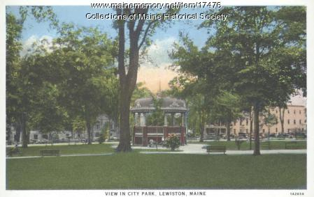 Gazebo, Lewiston City Park, ca. 1935