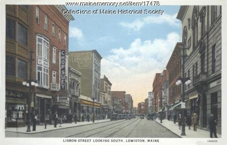 Lisbon Street, Lewiston, ca. 1935