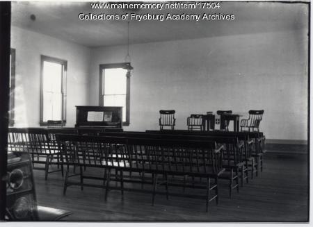 Interior of Fryeburg Academy Chapel