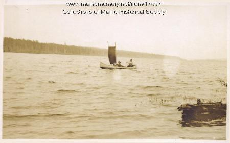 Sail up Long Lake, 1911