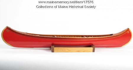 Quarter-scale model canoe, ca. 1997