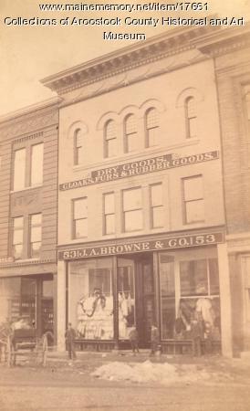 J. A. Browne Dry Goods, Houlton, c. 1900