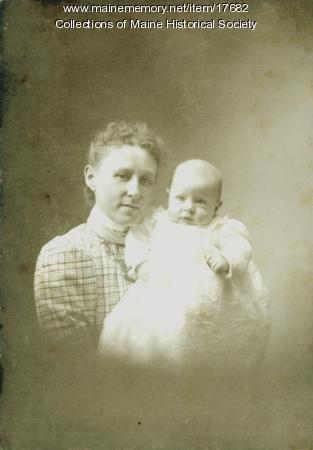 Nell Stanwood with son, ca. 1899