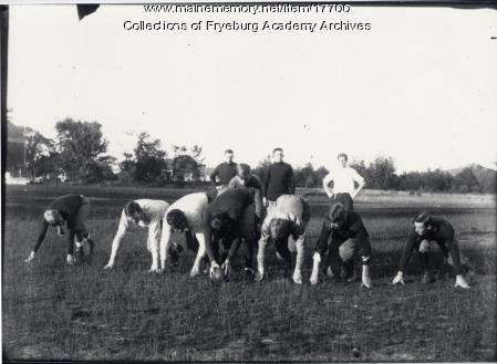 Football practice, Fryeburg, ca. 1908