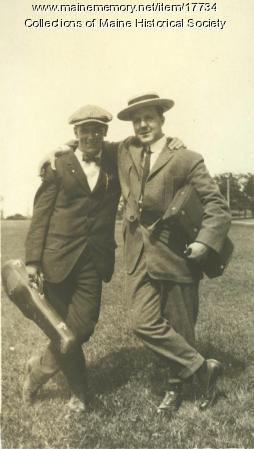 Leroy Nason and friend, Cape Cottage, 1913