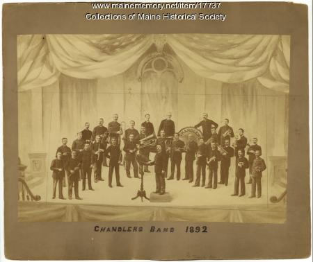 Chandler's Band, Portland, 1892