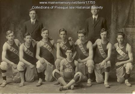 Presque Isle High School Basketball Team 1913