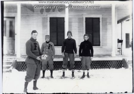 Fryeburg Academy football players, ca. 1908