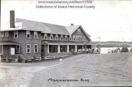 Administration Building, Eastern Music Camp, Sidney, ca. 1931