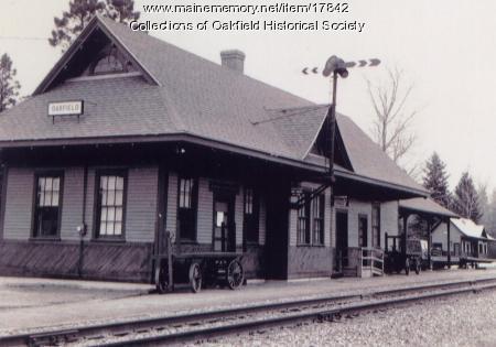 Bangor and Aroostook Railroad Station, Oakfield, ca. 1970