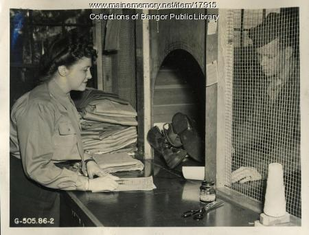 WAC clerk, Dow Field, Bangor, ca. 1944