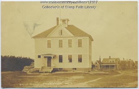 Steep Falls grade school building, ca. 1920