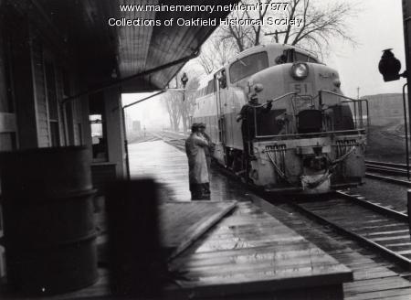 Bangor and Aroostook Railroad engine 51, c. 1952