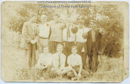 Boys in Steep Falls, ca. 1910