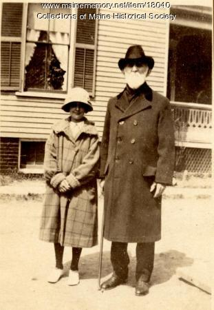 Dr. Melvin Preble and Mabel Preble, South Portland, ca. 1925
