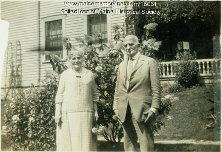 Hiram Judson Preble and Eliza Trueworthy Preble, Bangor, ca. 1925