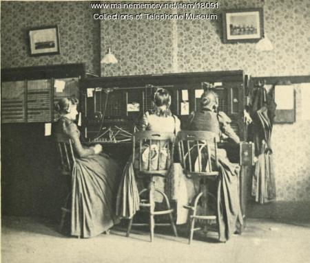 Switchboard operators, Lewiston, ca. 1893