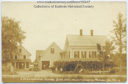 E. H. Chadbourne general store in East Baldwin