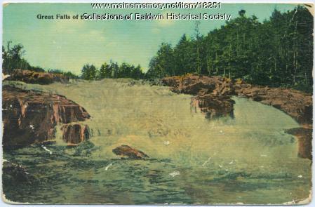 Hiram Falls, Baldwin, ca. 1914