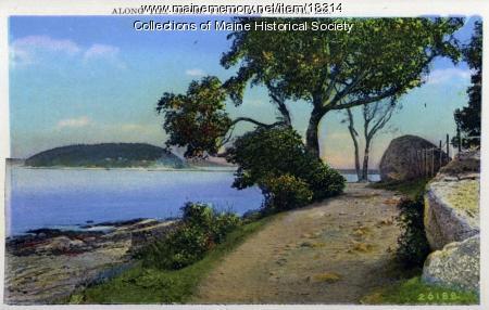 Along the shore path, Bar Harbor, ca. 1930