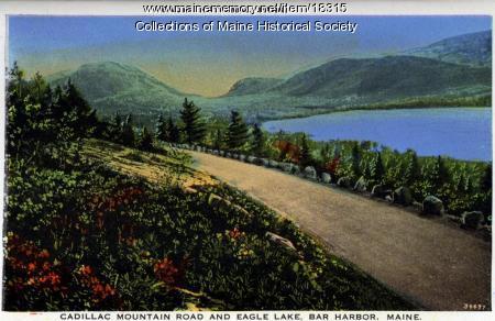 Cadillac Mountain Road, Eagle Lake, ca. 1930