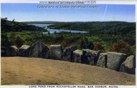 Long Pond from Rockefeller Road, Mt. Desert Island, ca. 1930