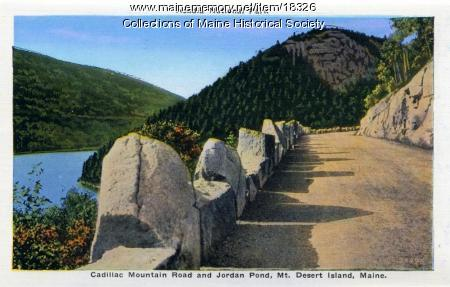 Cadillac Mountain Road and Jordan Pond, ca. 1930