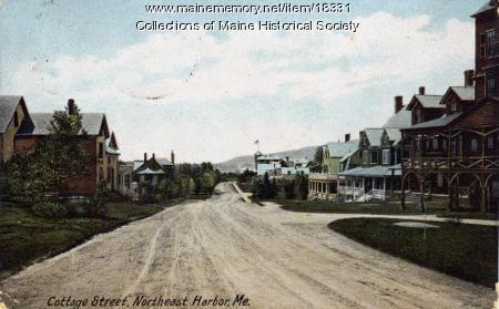 Cottage Street, Northeast Harbor, 1908
