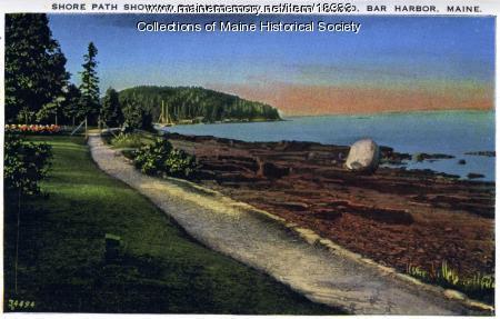 Balance Rock and Bar Island, ca. 1930