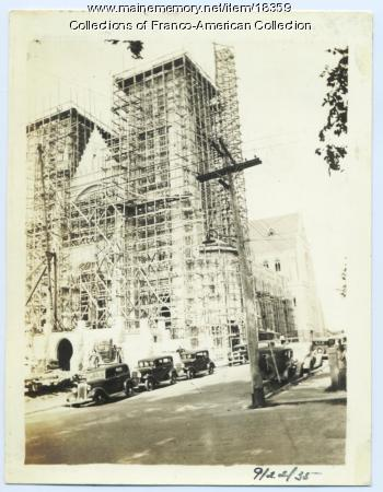 Construction, Sts. Peter and Paul Church, Lewiston, 1935
