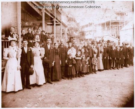 Wedding party, Lewiston, 1897