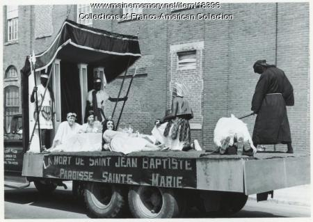 St. John's Day parade float, Lewiston, 1965