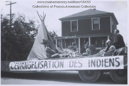 St-Jean-Baptiste parade, Lewiston, 1958
