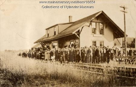 Bangor and Aroostook Railroad Station, New Sweden, 1918