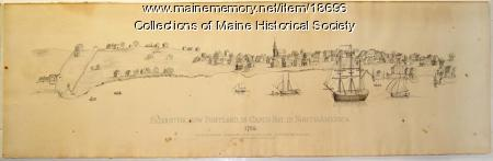 Panorama, Falmouth, ca. 1786
