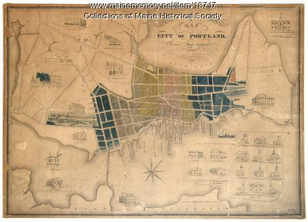 Map of the City of Portland, 1836