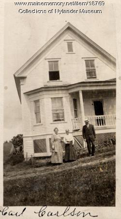 Carl Carlson home, New Sweden, ca. 1922