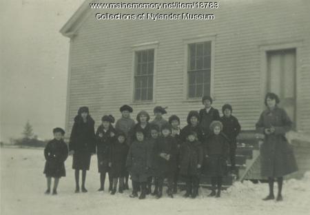 Madawaska Skolan, New Sweden, ca. 1922